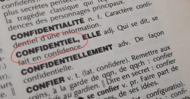 Confidentiel - Définition